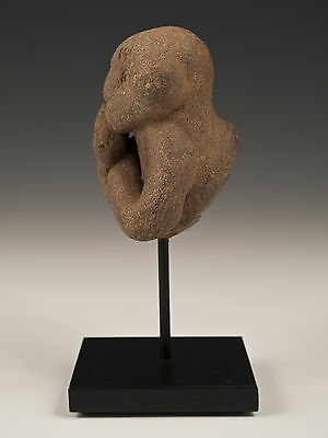 "Pre-Columbian Stone ""Clown"" Figure, Olmec Culture, Southern Mexico"