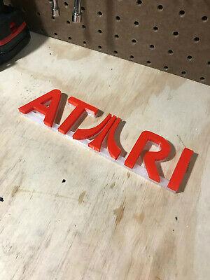 Atari video game Logo sign 3d printed 8in! videogame 7