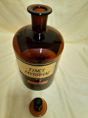 Apotheker-Flasche-Standgefäß Braunglas mit Glasstopfen 2,5 Liter Rar 2