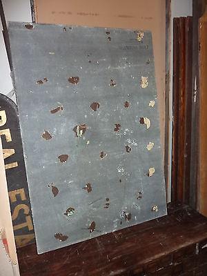"""antique ORIGINAL circa 1920's schoolhouse MASONITE chalkboard 60"""" x 42 UTICA, NY 7"""