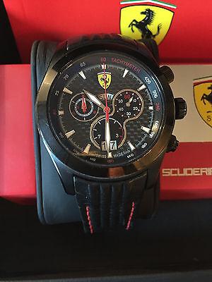 Scuderia Ferrari Chronograph Herrenuhr Paddock Watch Carbon Inkl Box Papiere Eur 299 00 Picclick De