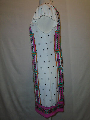 ECI Womans Multi Color Floral Beaded Dress Size 10 4