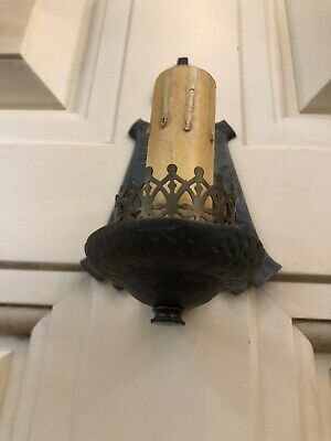Single Hand Hammered Arts & Crafts Wall Sconce Rewired 5