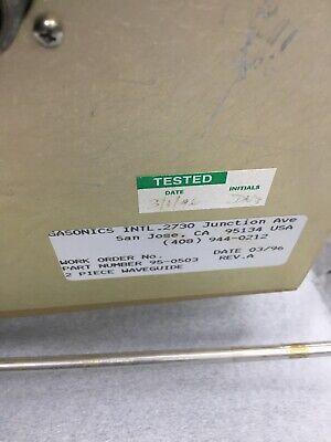 95-0593 Waveguide For Gasonics Aura 3010 3000  AWD-D-3-7-002 9