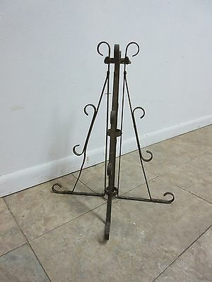 Antique Wrought Iron Scroll Flag Pole Music Stand Ceremonial 2