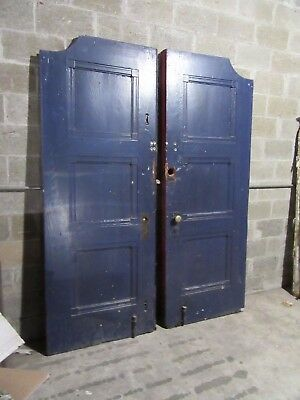 ANTIQUE OAK DOUBLE ENTRANCE FRENCH DOORS  ~ 67 x 89 ~  SET 1 OF 3  ~ SALVAGE