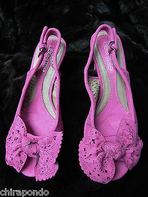 Sandalette Liberitae Schleifchen rosa Spitze zeitlos Gr. 37 mit Ersatzabsätzen 2
