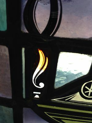 Antique Stain Glass Window Eternal Flame Oil Lamp Sg 49 2