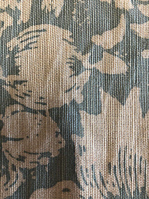 "Bennison ""Allover Floral"" Fabric Remnants in Color ""Celedon on Beige"""