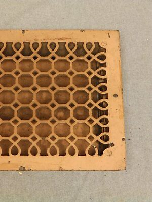 Antique Honeycomb Cast Iron Heat Grate Register Vent Old Vintage Hardware 635-16 2