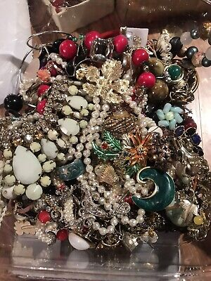 Jewelry Vintage-Modern Huge  Lot Craft, Junk, Wearable, Box 3 FULL POUNDS 2
