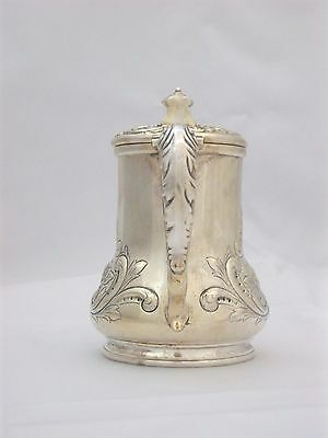 Exquisite Victorian Silverplate Honey Pitcher Jug Repousse Scroll Design Meriden 6