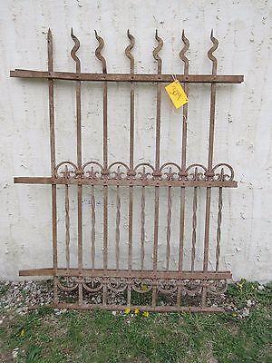Antique Victorian Iron Gate Window Garden Fence Architectural Salvage Door #304 5