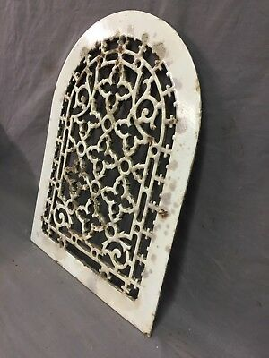 One Porcelain Antique Arched Top Heat Grate Grill Gothic Wall Arch 10X13 47-19D 3