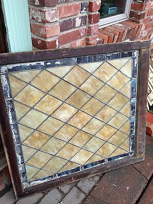 Antique Stain Glass Diamond Pattern Window Sg 40 4