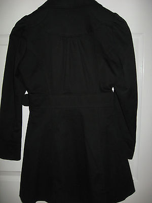 New Girls Clothes Black School Uniform Coat Fashion Double Breasted 15-16 Years 6