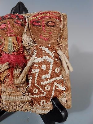 Peru Peruvian Central Coast Chancay Fabric Cotton Burial Dolls  #2 2