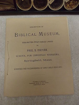 1890 Palestine Museum Cabinet Collected From Bible Lands Paul S Iskiyan W/ Book 3