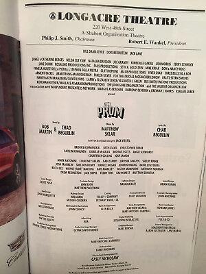 The Prom Playbill Book Broadway Theatre New York December 2018