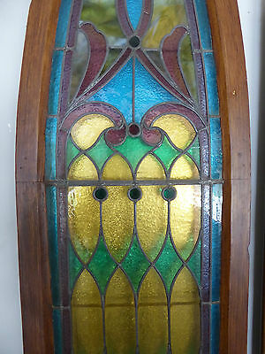 ANTIQUE CHURCH STAINED GLASS WINDOW - LATE 1800's - READY TO MOUNT ON WALL 3