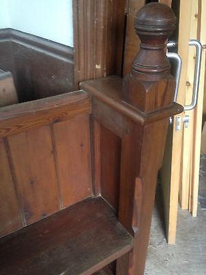 Victorian Church Neo Gothic Pew chapel settle bench Elders Seat TallSlimBookcase 8