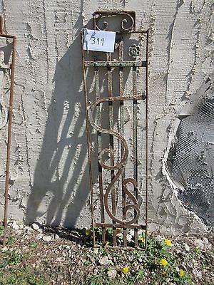 Antique Victorian Iron Gate Window Garden Fence Architectural Salvage Door #399 4