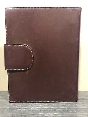 GUCCI Vintage Gold GG Logo Agenda Day Planner Binder Cover Leather Italy 3