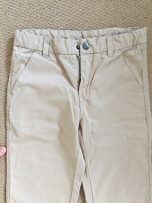 Polarn O Pyret Smart Cotton Beige Trousers Age 10-11 146cm Excel Cond 2