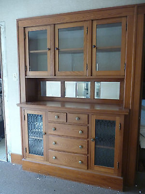Antique Craftsman Style Built-In China Cabinet - C. 1915 Architectural Salvage 3