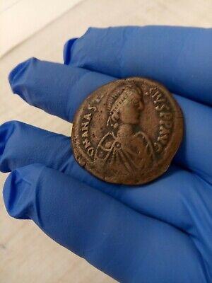 ANASTASIUS 491AD Ancient Medieval Byzantine Follis Constantinople Coin i79944 3