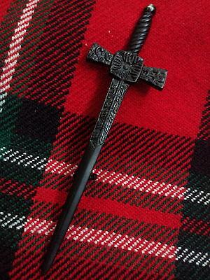 TC Celtic Broads World Spille Kilt Nero Jet/Spillo Scozzese Spada 11.4cm