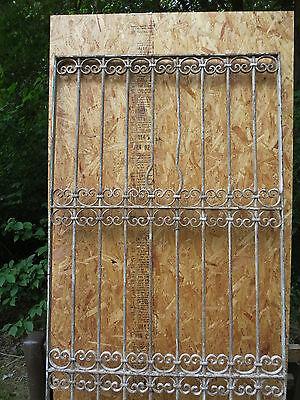 Antique Victorian Iron Gate Window Garden Fence Architectural Salvage Door T 2