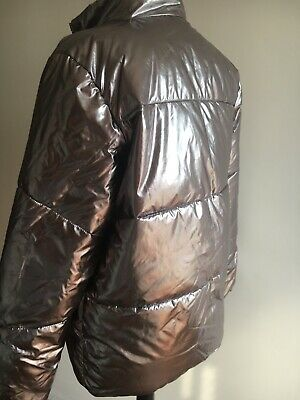 Stunning Silver Girls Lightweight Padded Jacket Very Good Condition Age 14 - 15 4