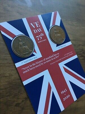 VE DAY FLAG 75th Anniversary Victory in Europe - Coins -1939 & 1945 8th May 2020 8