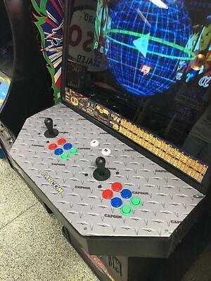 "Laminated Capcom Diamond Plate Arcade Control Panel Overlay 30"" X 16"" (cpo) 5"