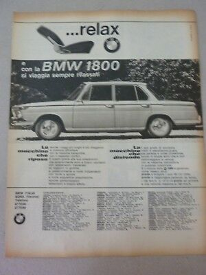 - Advertising Pubblicita'  Bmw 1800 Ti -  1965 Vedi Altre Disponibili