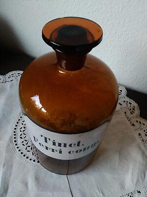 Apothekerflasche;Tinct. Ferri comp.; 3 ltr.;braunglas;geschl. Stöpsel;Loft;Deco 2