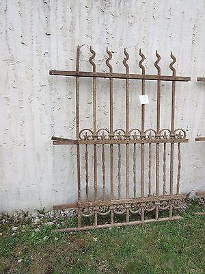 Antique Victorian Iron Gate Window Garden Fence Architectural Salvage Door #710 2
