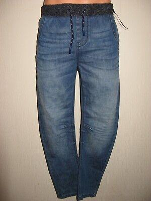 New Tagged Boys Next Cuffed Waist Pull On Skinny Leg Jeans & Next T-Shirt Age 11 4