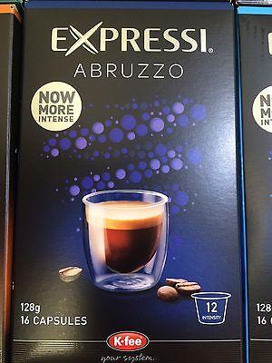 Expressi K-fee Coffee Machine Capsules Pods ALDI 80 caps (5 boxes) u choose 8