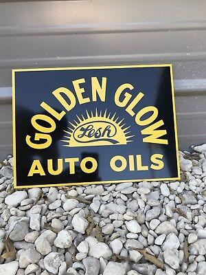 Antique Vintage Old Style Bolivar Motor Oil Gas Service Station Sign