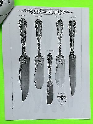 Copy of  Towle Old English Sterling Silver Flatware Catalog 32 Pages c. 1911