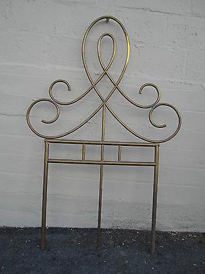 Unique Vintage Antique Brass Architectural Ornament Wall Garden Décor Headboard 4