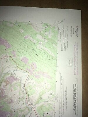 Meyersdale PA Somerset Co USGS Topographical Geological Survey Quadrangle Map 5