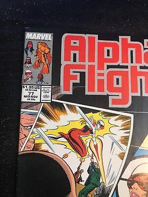Alpha Flight#77 Incredible Condition 9.0(1989) Kingpin App!! 6