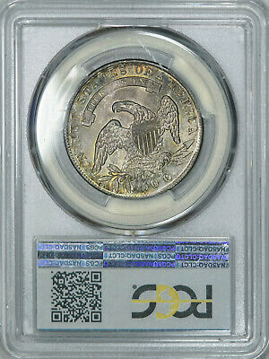 1835 PCGS MS63 PQ Bust Half, attractive old patina & luster, much tougher in MS 3
