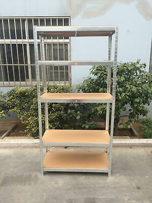 Garage Shed 5 Tier Racking Storage Shelving Units Boltless Heavy Duty Shelves 6