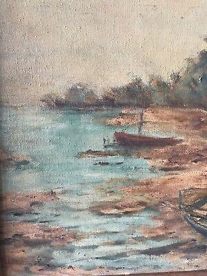 Vintage GRAHL Landscape Oil Painting Rare 9