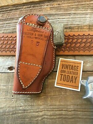 Alfonsos Brown Leather Suede Lined Flap Holster Stamped For Colt .22 .25 Auto