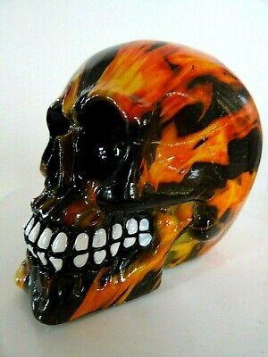 Figur Feuer Schädel Skull Inferno Bunter Totenkopf mit Flammen